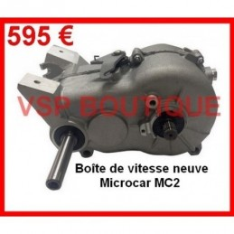 BOITE DE VITESSES MICROCAR MC1 (495 € HT =NEUVE) (Adaptable)
