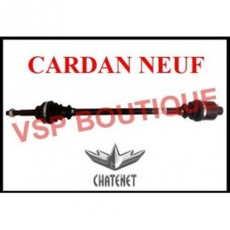CARDAN / TRANSMISSION CHATENET CH26/ CH30 / CH32 (gauche) ( NEUF)