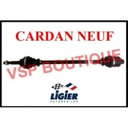 CARDAN / TRANSMISSION LIGIER AMBRA (gauche) radiateur devant ( NEUF)